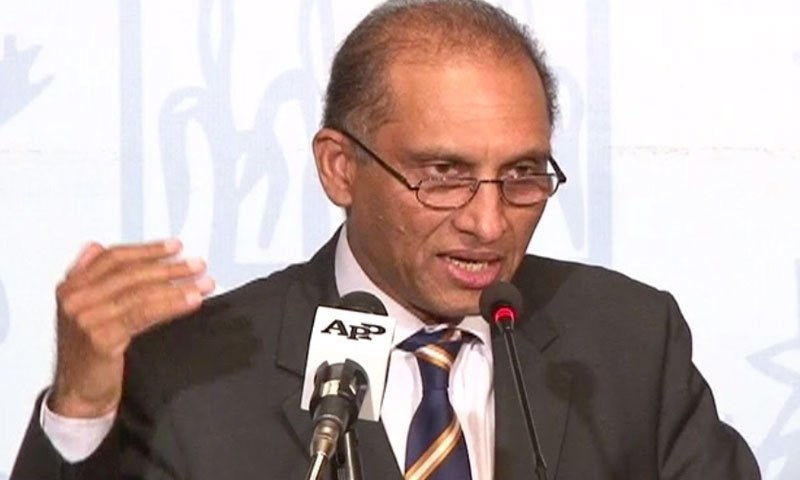 Foreign Secretary Aizaz Ahmad Chaudhry led the Pakistani delegation and discussed the issue of bilateral cooperation. —DawnNews screengrab/File