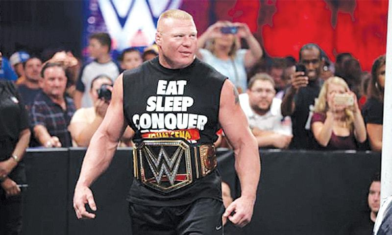 Defending champion Brock Lesnar