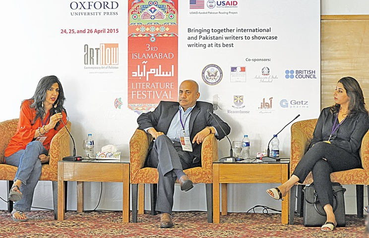 'Art and the Market', moderated by Quddus Mirza.— Tanveer Shahzad/White Star