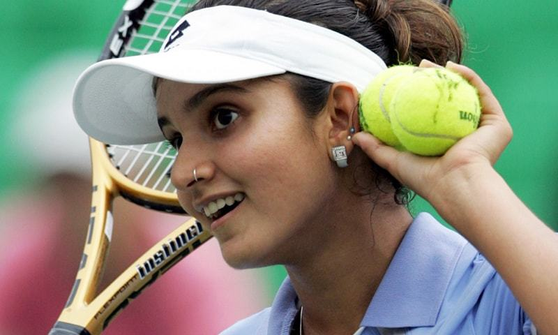 """I hope girls can pick up tennis racquets and think of sports as a career option,"" says Sania. — Reuters/File"