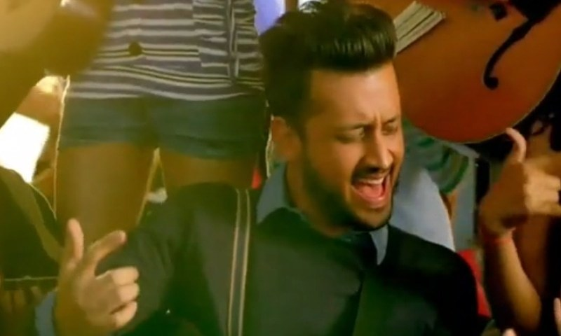 Aslam in a still from the video.