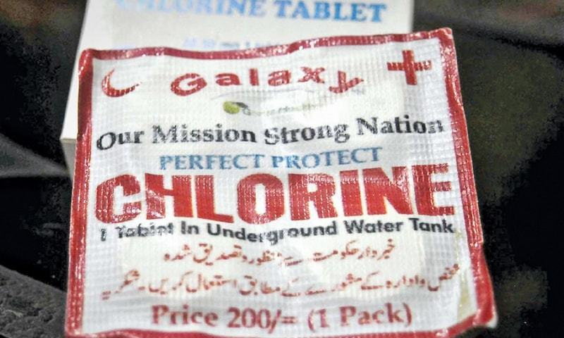 There was a scramble for chlorine tablets, like the one pictured here, when it emerged on Friday that two people fell victim to the 'brain-eating amoeba' in the past 15 days in Karachi.—Fahim Siddiqi / White Star