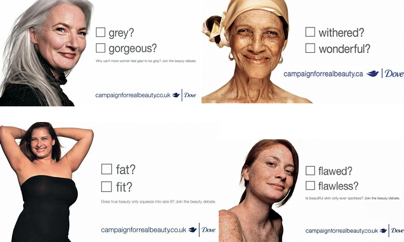 Dove goes public in the UK with its Campaign for Real Beauty posters. In this early version of the campaign Dove sticks closely to the theme of natural beauty. As the brand has become more political through its partnership with Twitter, it has attracted criticism.