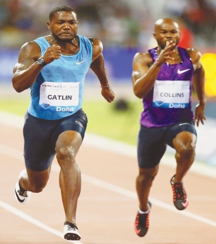Gatlin storms to 100m lifetime best at Diamond League ...