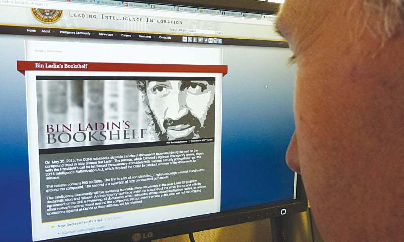 A journalist looks at a page on the website of the Office of the Director of National Intelligence on Wednesday.—AFP