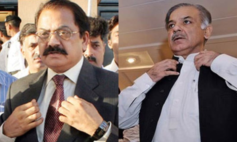 All JIT members unanimously declared Shahbaz Sharif and Rana Sanaullah 'innocent'.—APP/File