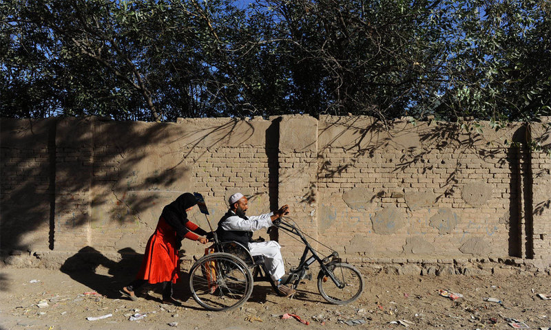 People with disabilities form almost 15pc of Pakistan's population but their rights find no mention in Constitution. -AFP/File