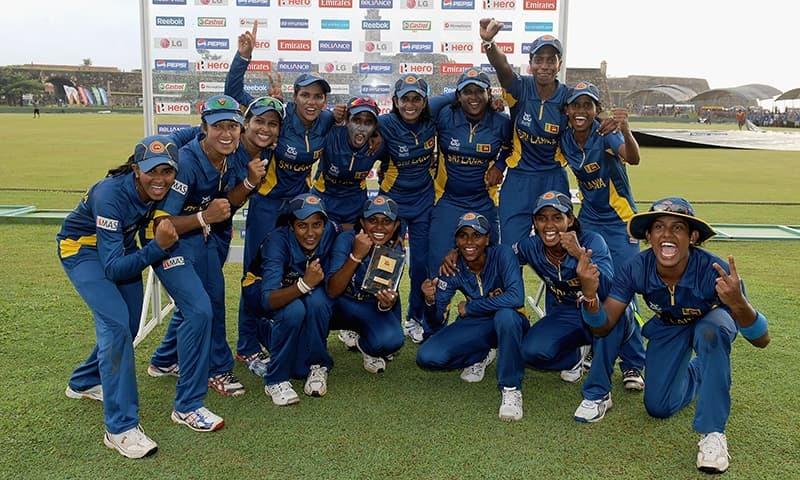 Sri Lankan Team Celebrate Their Victory During The ICC Womens World Twenty20 2012 Group B Match