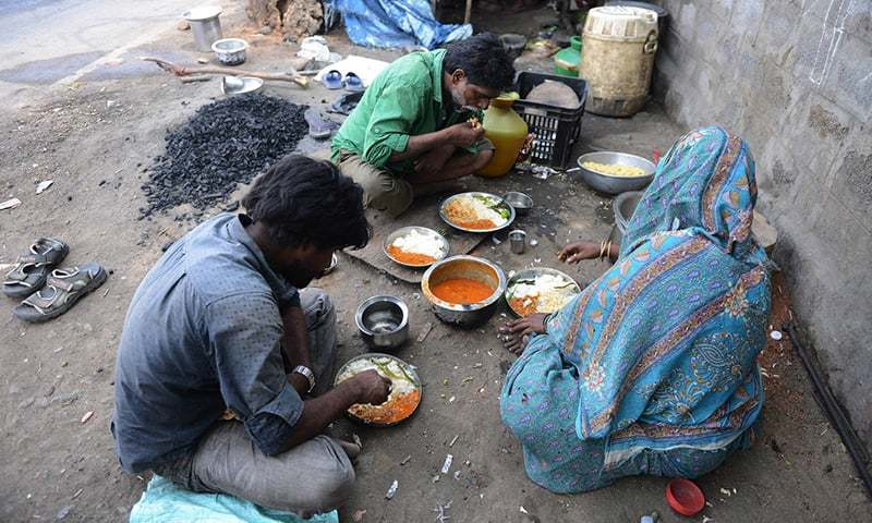 India's malnourished  people comprise just over 15 per cent of the population.  —AFP/File