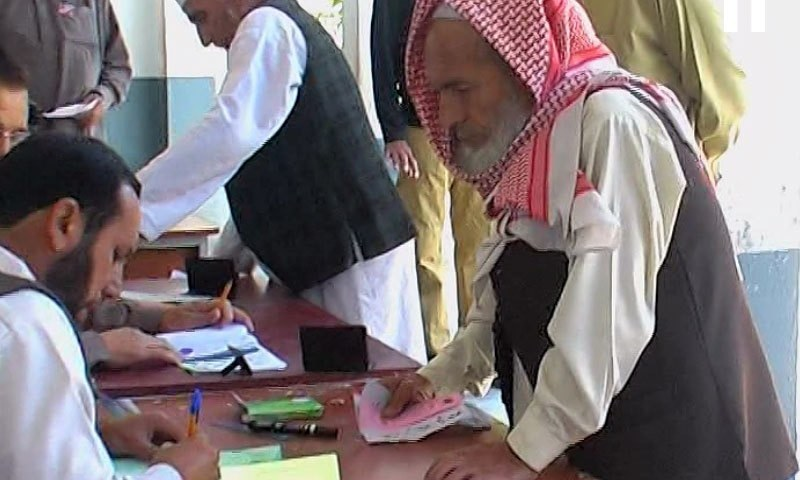 More than 13.1 million people will exercise their right of vote in the LG polls today, the largest in KP's history. — DawnNews screengrab