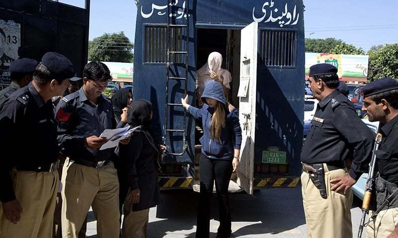 The supermodel was an inmate at Rawalpindi's Adiala jail. ─ AP/File