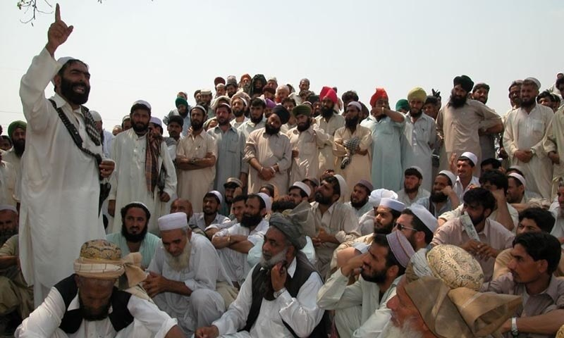 The photo shows an Afridi jirga in the town of Bara in the Khyber tribal district in 2002. —Photo courtesy: RFE/RL