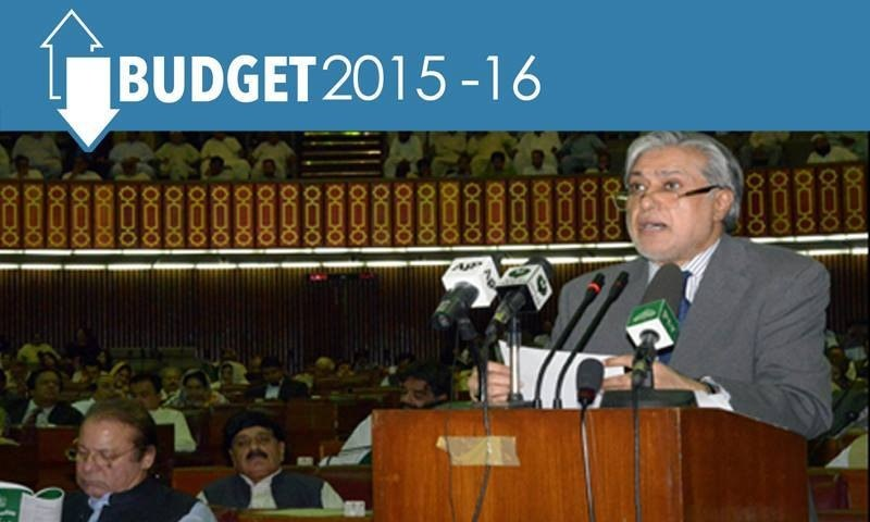Finance Minister Ishaq Dar unveiled the budget for fiscal year 2015-2016.