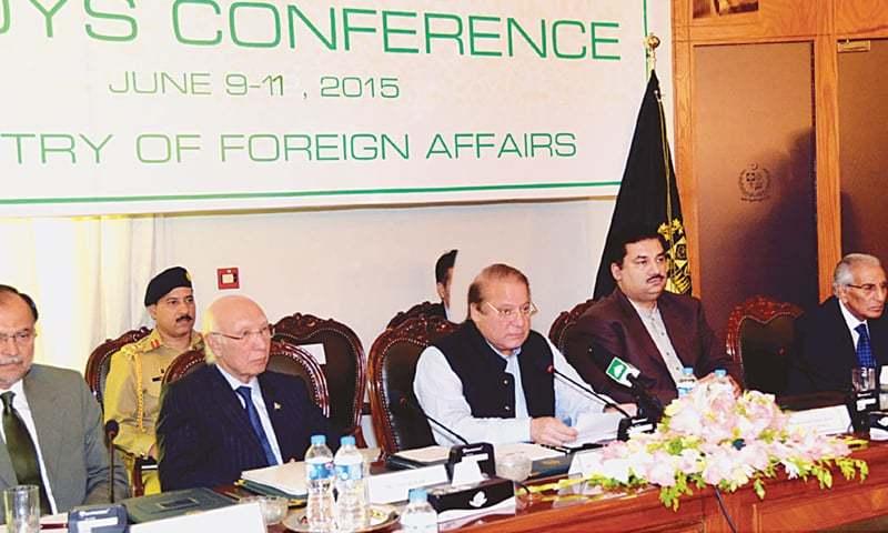 Islamabad: Prime Minister Nawaz Sharif addressing the conference on Thursday.