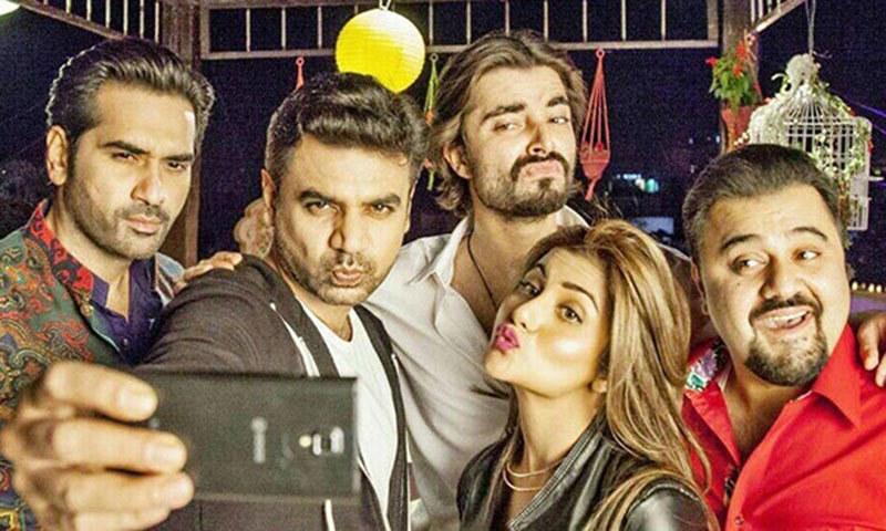 Humayun Saeed, Vasay Chauhdry, Ahmad Ali Butt, Sohai Ali Abro and Hamza Ali Abbasi. — Publicity photo