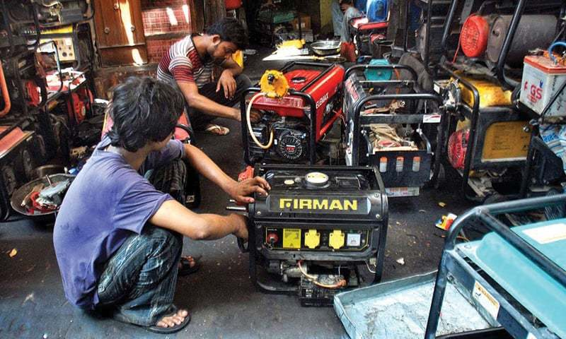 hyderabad a mechanic repairs a generator on tuesday the ongoing heatwave has made such