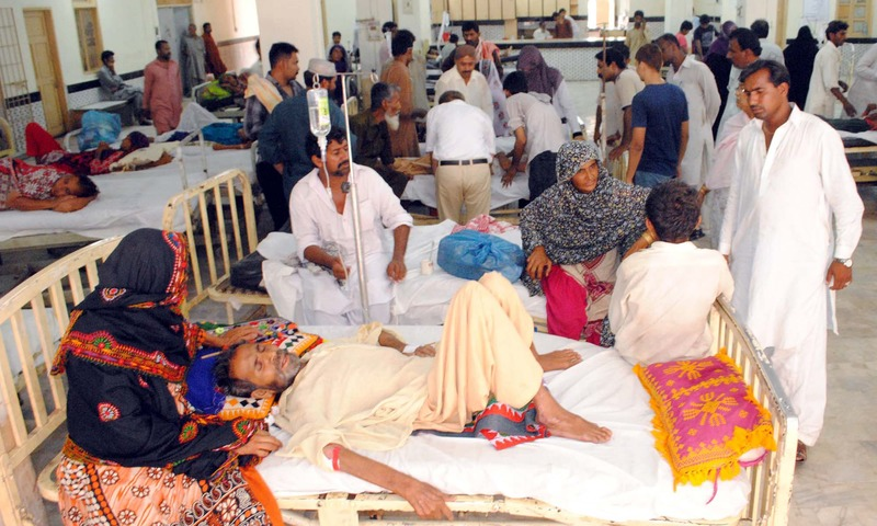 Heat waves affected people being shifted to Civil Hospital for treatment, in Hyderabad on Wednesday. —PPI