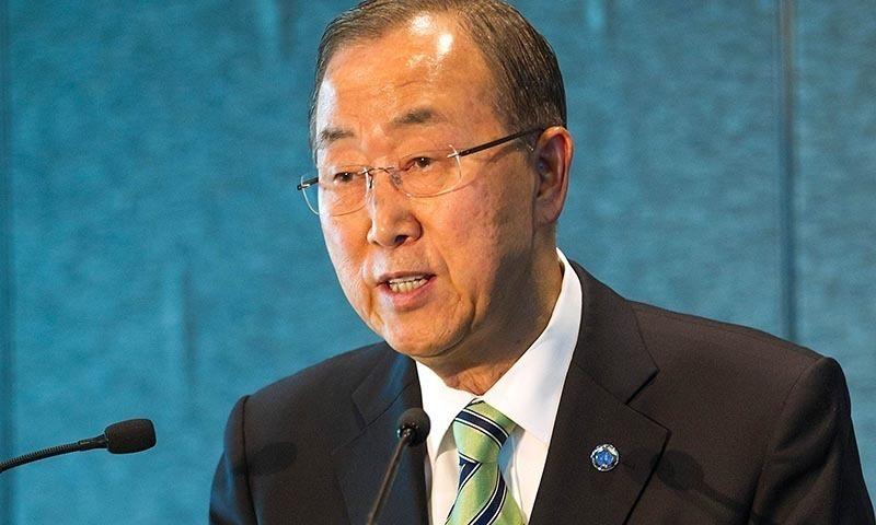United Nations Secretary General Ban Ki-moon expresses  sympathy victims of the recent Karachi heatwave. — AFP/File