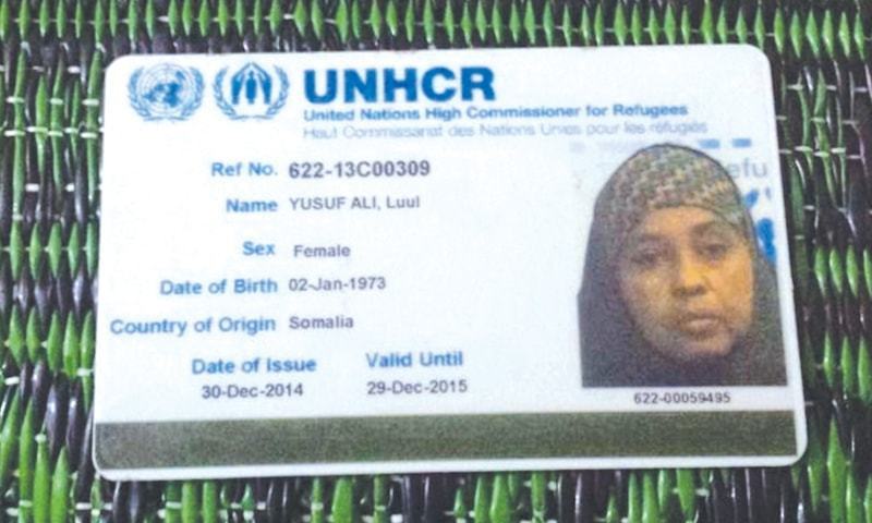 PAKISTAN hosts about 400 Somalis including Luul Yusaf Ali who has been residing in the country with her daughter Idil since 2013. Even though her UNHCR card indicating her refugee status helps her to a certain extent, her situation is pitiable.—Photo by writer