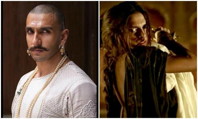 Ranveer Singh and Deepika Padukone in 'Bajiro Mastani'.