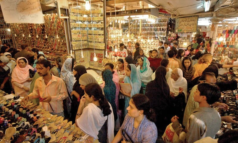 Eid shoppers tighten purse strings pakistan dawn com for Bano bazar faisalabad