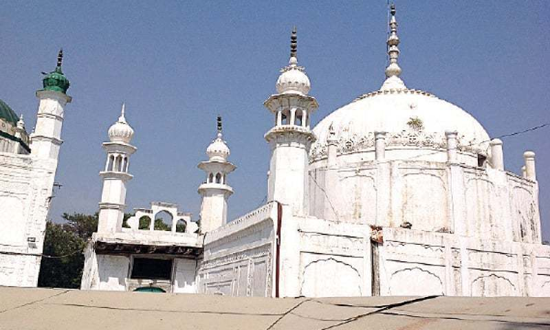 A view of the shrine of Hazarat Kaka Sahib in Nowhsera. — Dawn