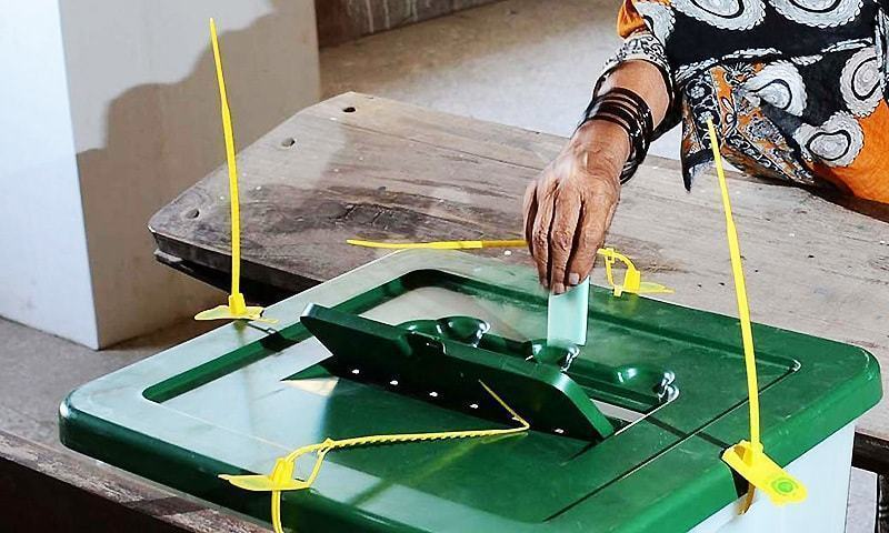 Residents faced hardships reaching polling stations due to rains; PTI, PML-N supporters scuffled over rigging allegations. —INP/File