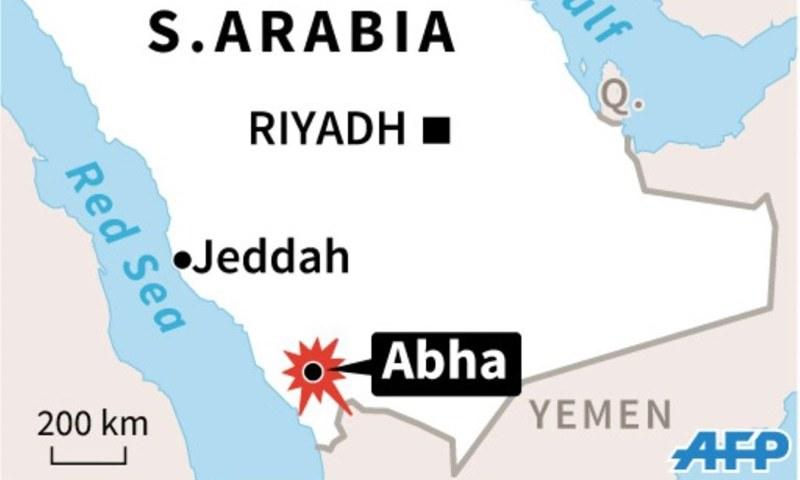 Взрыв произошел в поклонники молились в мечети, используемой саудовских спецслужб города Абха недалеко от границы с Йеменом.  & Mdash;  AFP