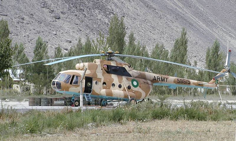 According to an ISPR official, the helicopter, which was carrying medical supplies, had taken off from Chaklala, Rawalpindi, and was on its way to Gilgit. – File Photo