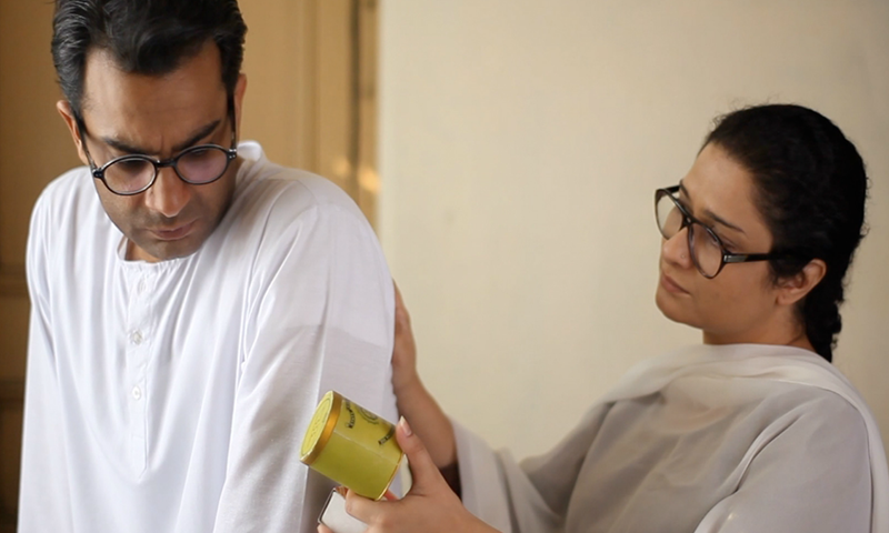 Sarmad Khoosat as Manto, and Sania Saeed as his wife, Safia — Publicity photo