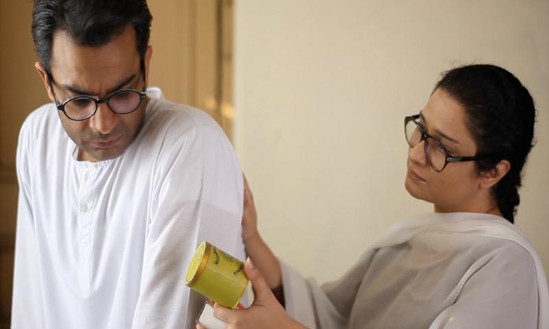 Sarmad Khoosat as Manto, and Sania Saeed as his wife, Safia — Publicity photo