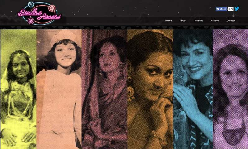 Rescuing a cardboard box full of memories, Bushra's elder daughter and the site's creator Nariman decided to make public an archive of her mother's life and work — Screengrab from bushraansari.com