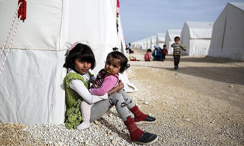 Syrian refugee children. —AP