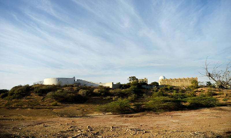 "A general view of the graveyard of Parsis also known as the ""Tower of silence"" in Karachi. — AFP"