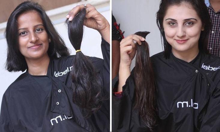 30 girls and women donated their locks to make natural hair wigs for cancer patients    — Photo by Syed Fawad Ali