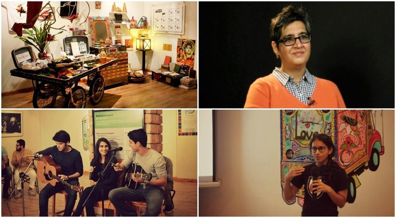 Arts and crafts, dialogue and performance abound in the cultural haven that is T2F, founded by the late Sabeen Mahmud — T2F photos courtesy T2F's Facebook page/Sabeen's photo courtesy scmp.com