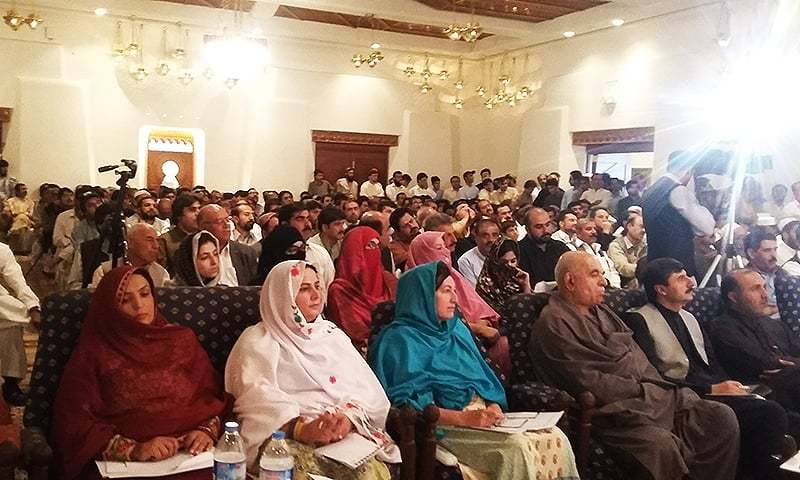 Speakers at the World Pashto Conference spoke at length on the importance of mother-languages and urged the federal government to grant national and official status to all languages in the country. ─ Photo by author