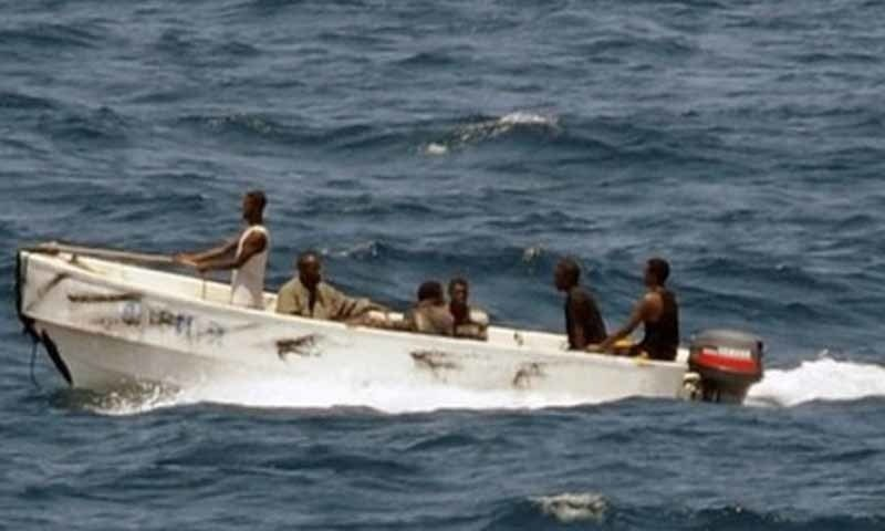 A Pirate Dinghy Cruises Along In The Waters Off The Coast Of Somalia Afp