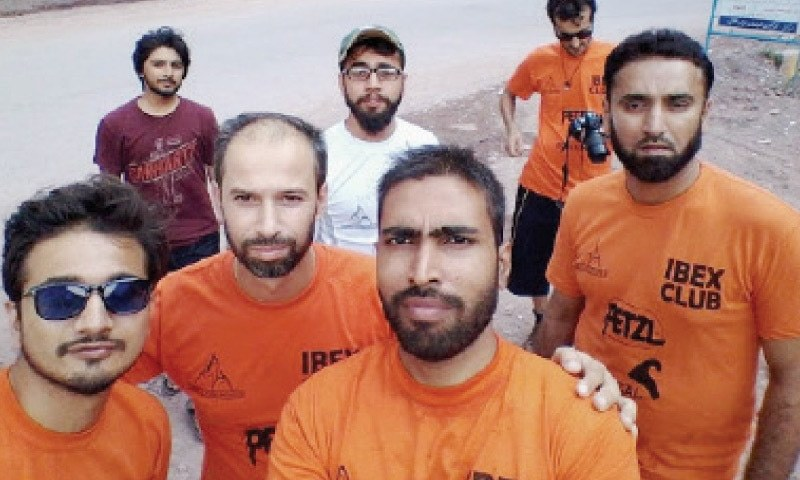 The climbers who went missing on Sarwali peak in Kashmir.