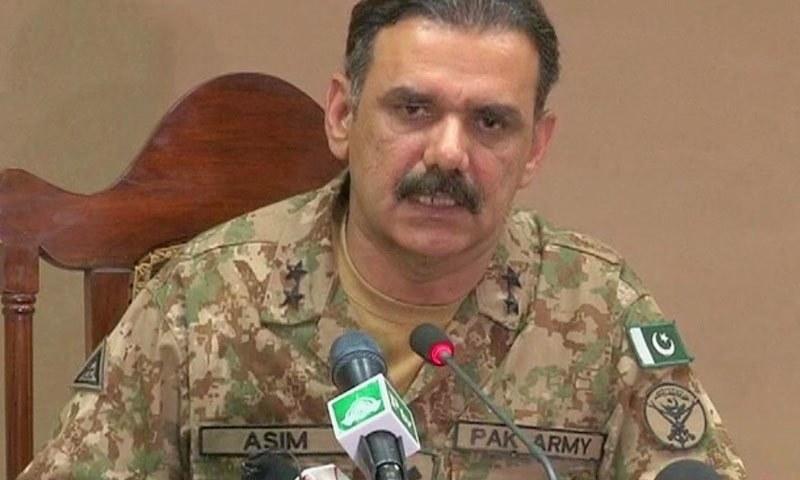 Director-General Inter-Services Public Relations (ISPR) Major-General Asim Bajwa. -DawnNews screengrab