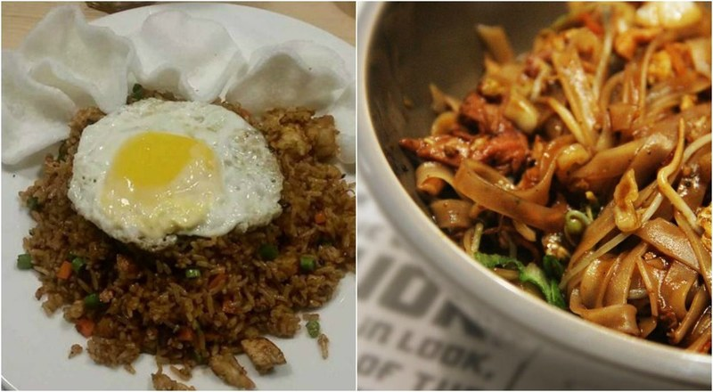 Serving wok-fried dishes like Nasi Goreng (L) or pad thai noodles in Thai sauce (R), Chop Chop Wok brings something new to town.