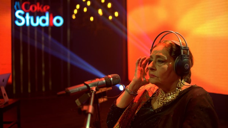 Fareed Khanum makes her highly awaited appearance in the final episode of Coke Studio 8 — Publicity photo