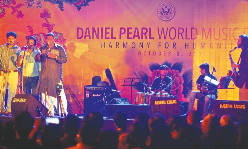Artists perform at the Daniel Pearl World Music Day Concert on Thursday.—White Star