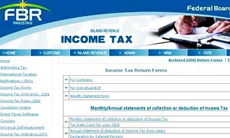 how to file income tax return online pakistan