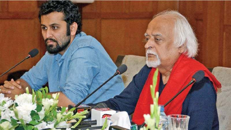 Anwar Maqsood speaks at the press conference on Tuesday. — White Star