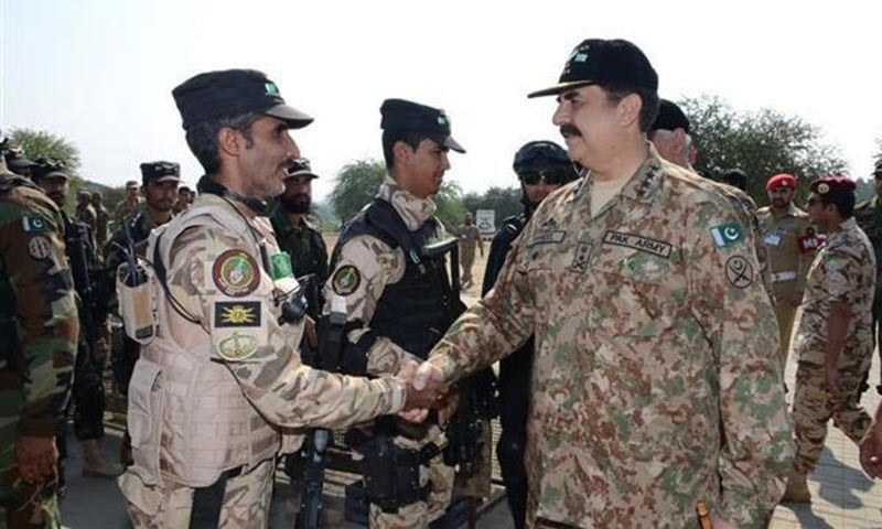 """""""This exercise signifies the joint effort of our two nations against terrorism and Insha'Allah we will defeat this menace in all its forms and manifestations,"""" he said. — Photo courtesy ISPR"""