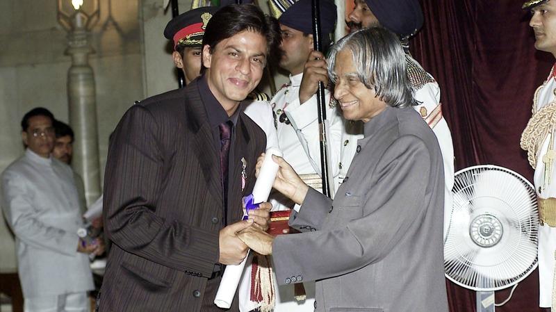 Shah Rukh Khan was awarded the Padma Shri, India's fourth highest civilian honour, in 2005 – Photo courtesy Deccan Chronicle