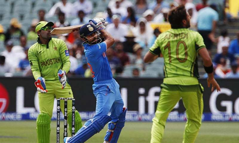 India's batsman Virat Kohli hits a shot during a World Cup match against Pakistan in Adelaide, February 15, 2015. — Reuters