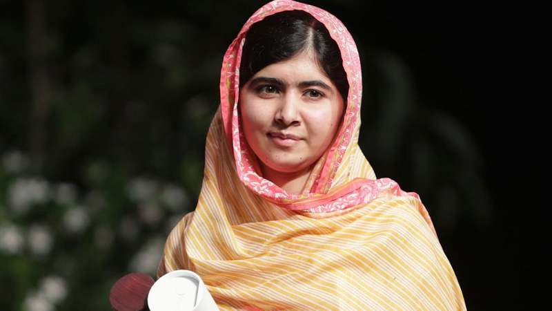 Malala is a fan of SRk, Honey Singh and Sachin Tendulkar. — Reuters