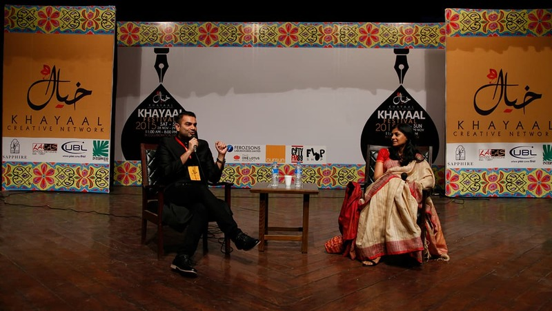 Sarmad Sultan Khoosat and Nandita Das addressing a session. — Publicity photo